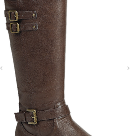 Thistle & Clover WOMENS BUCKLED KNEE HIGH RIDING TALL BOOTS ELVA