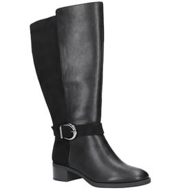 31-3252 Victoria Tall Shaft, Wide Calf, Black/Super Suede