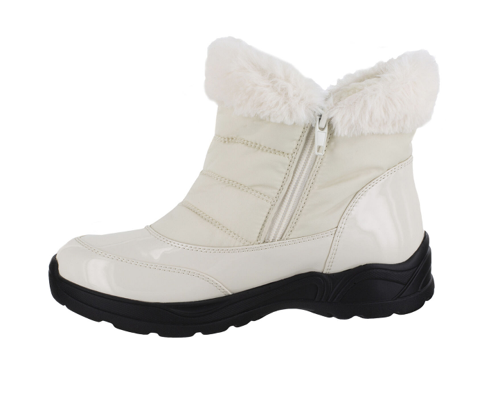 31-1088 Patent Winter White Frosty Boot