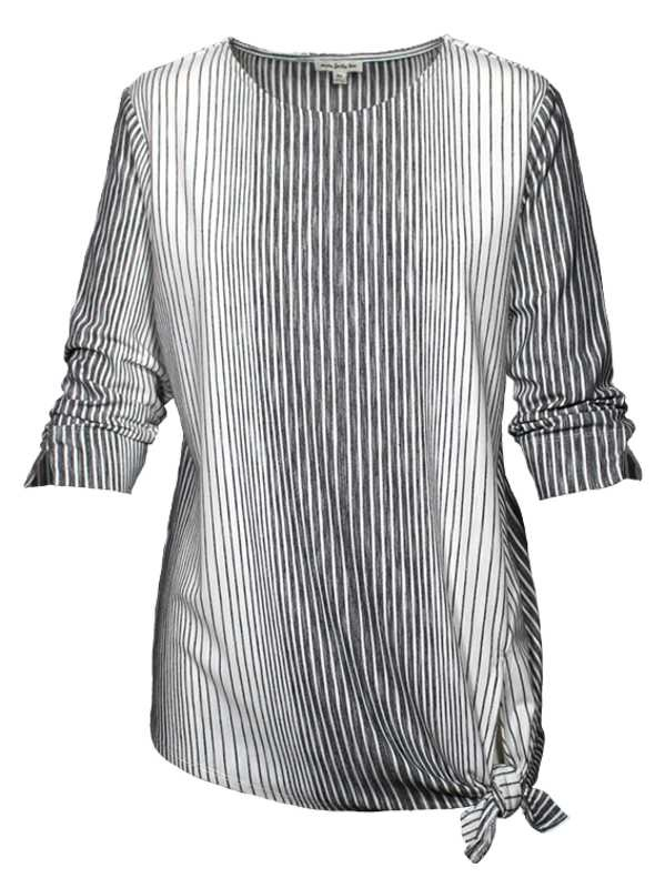 3/4 Slv Jaymie Striped Top