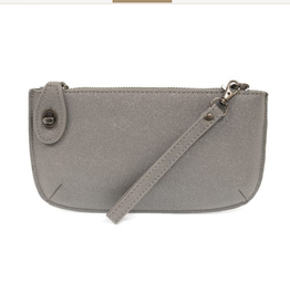 Joy Susan Sparkle Mini Crossbody Wristlet Clutch - Grey