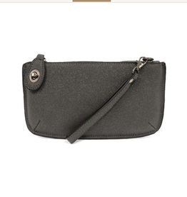 Joy Susan Sparkle Mini Crossbody Wristlet Clutch - Charcoal