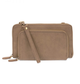 Joy Susan Brushed Mini Convertible Zip Around Wristlet - Dark Khaki