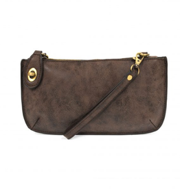 Joy Susan Lux Crossbody Wristlet - Chocolate