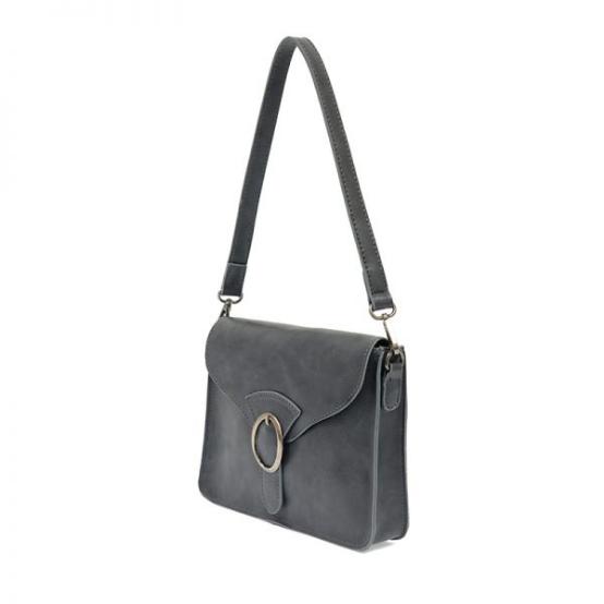 Joy Susan Drea Convertible Buckle Handbag - Slate