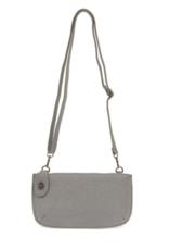 Joy Susan Sparkle Mini Crossbody Wristlet Clutch - Grey