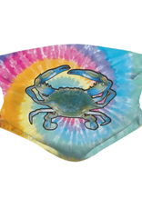 Realistic Blue Crab on Tie Dye Face Mask