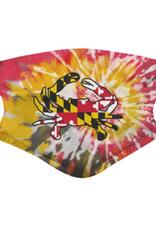 Maryland Flag Crab on Tie Dye Face Mask