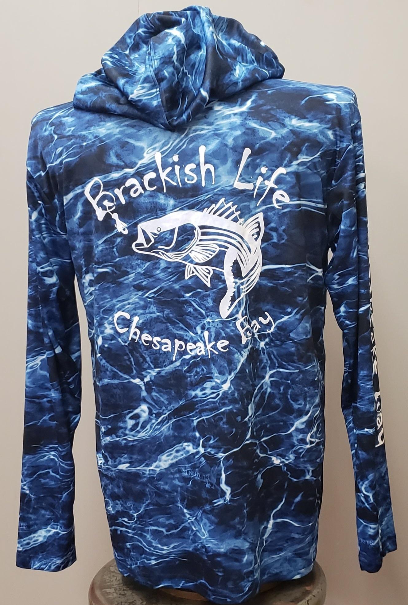 Brackish Life Mossy Oak Marlin Blue UV Hoodie