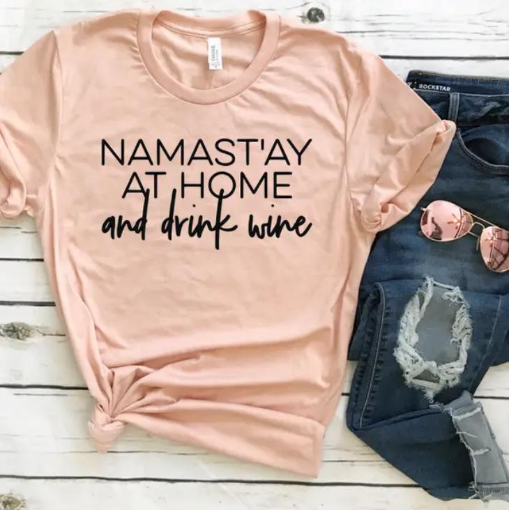 FAMS design Namastay At Home Tee