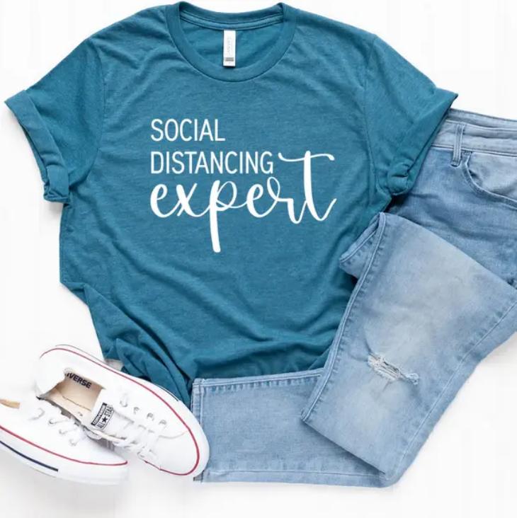 FAMS design Social Distancing Expert COVID Shirt