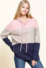 Mittoshop Color Block Long Sleeve Hoodie