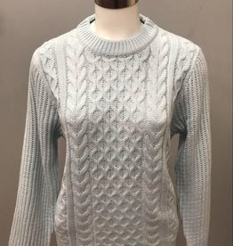 Blue Cable Knit Sweater 903528