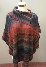 Knitted Cowl Neck Poncho 9532737