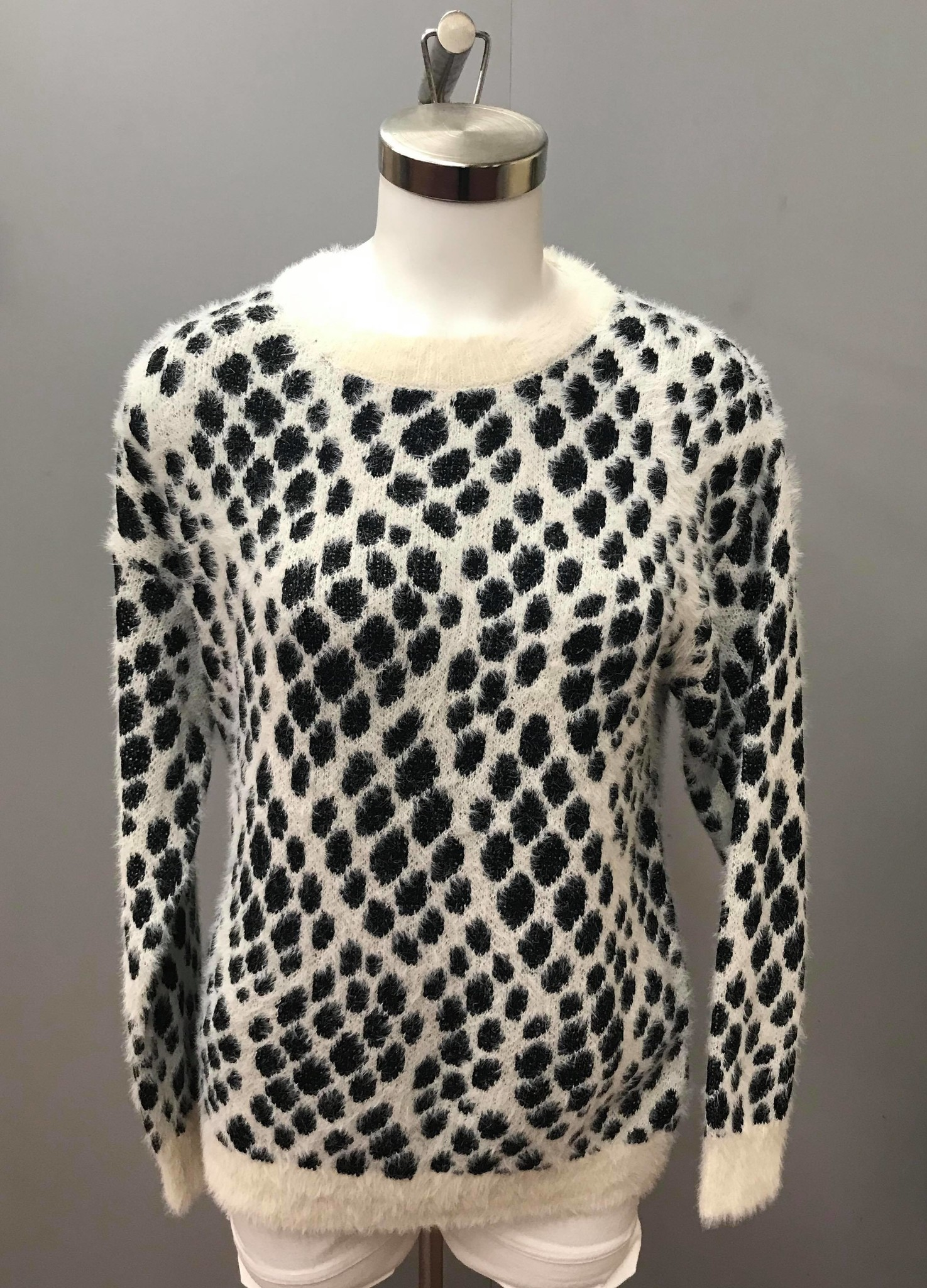Knitted R/N Sweater Leopard 9282768