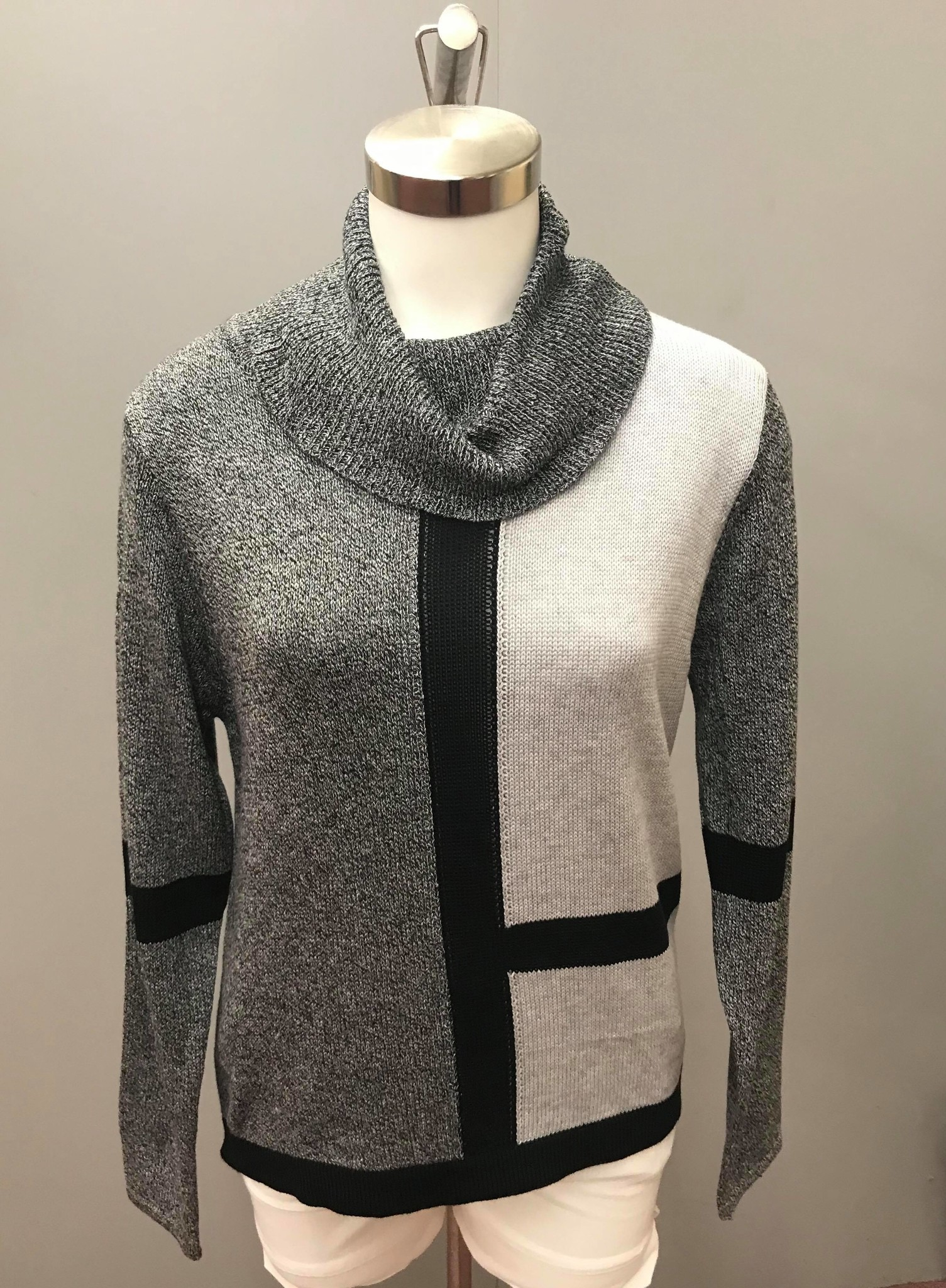 Knitted Cowl Neck Sweater 9902756