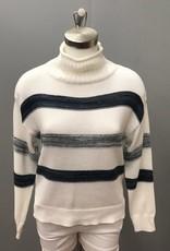 Knit Striped Turtleneck 903530