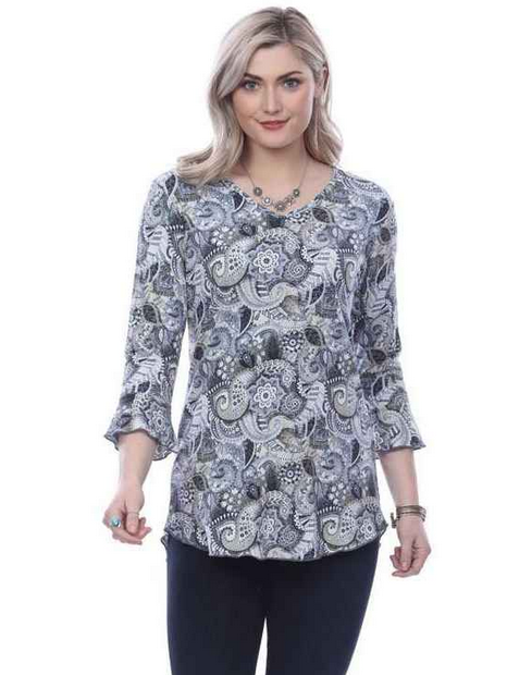 Parsley & Sage Blue Multi Paisley Tunic