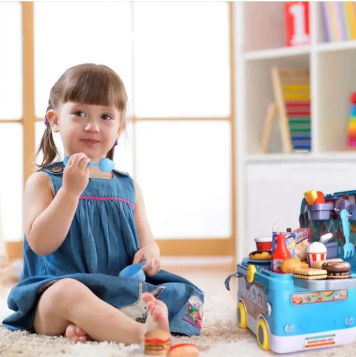 Fun Little Toys Remote Control Pretend Play Food Car