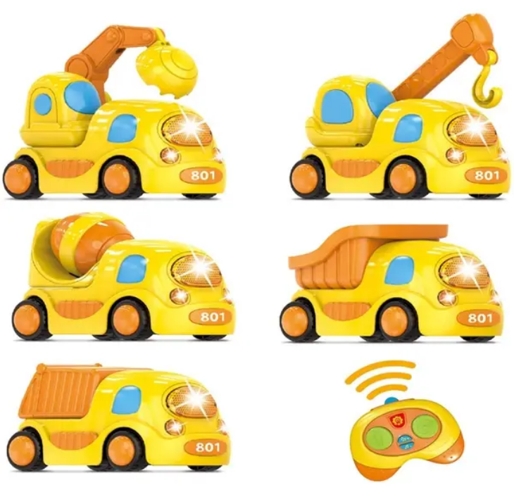 Fun Little Toys Remote Control Toy Trucks with Light and Music