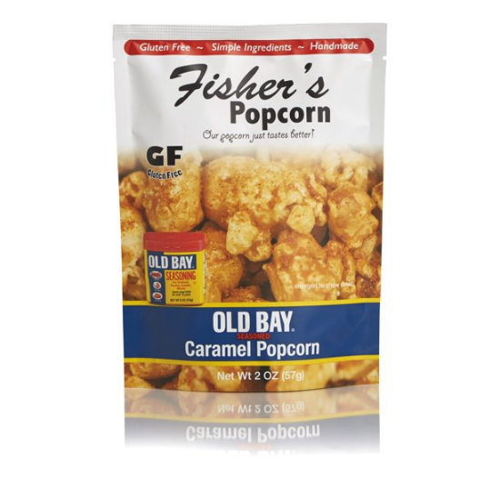 Fisher's Popcorn Small Pouch Old Bay Caramel 2oz