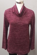 SOFT WORKS Cowl Top Wine