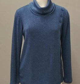 SOFT WORKS Button Top Blue
