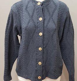 Binghamton Knitting Company Denim Diamond Cardigan