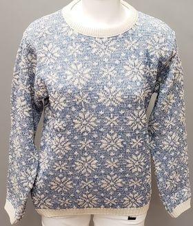 Binghamton Knitting Company Ocean Snowflake Sweater