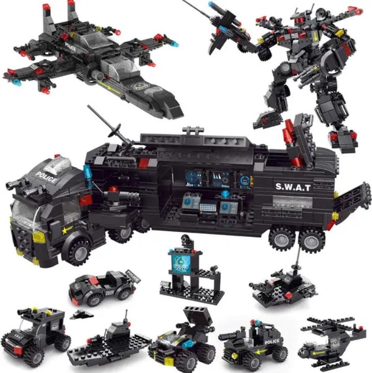 Fun Little Toys Asst'd Police Truck Building Blocks