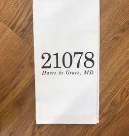 PCB Home Personalized Zip Code Tea Towel