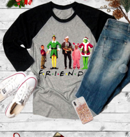 Caramelo Trend Christmas Movie Friends Tee