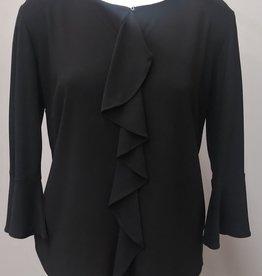 N TOUCH Black 3/4 Sleeve Jolianne Top