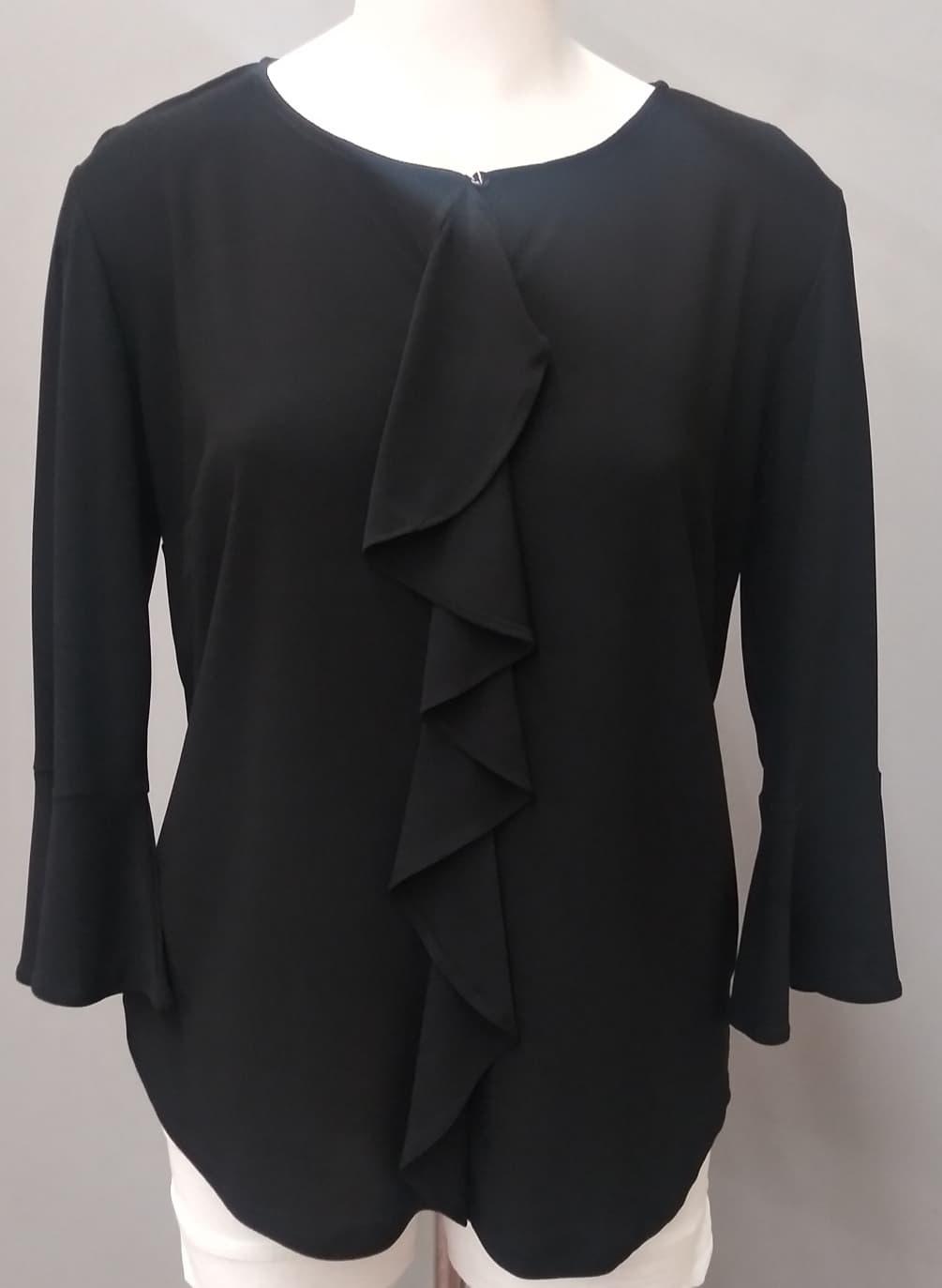 Black 3/4 Sleeve Jolianne Top