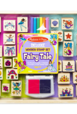 Melissa & Doug Deluxe Wooden Stamp Set - Fairy Tale