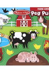 Melissa & Doug Farm Peg Puzzle