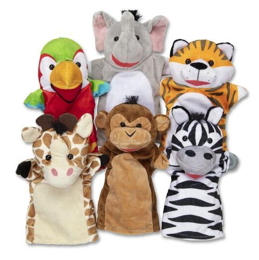 Melissa & Doug Safari Puppet Set (6 Pc.)