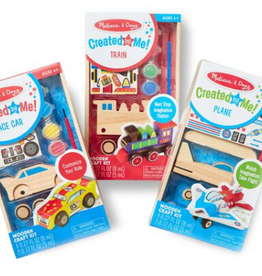 Melissa & Doug DYO Plane, Train & Race Car Bundle