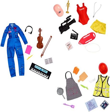 Mattel Barbie Surprise Careers Pack Asst
