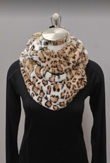 Leopard Brown Infinity Scarf
