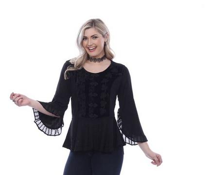 Parsley & Sage Black Dressy Top