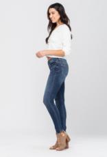 Judy Blue Mid-rise Handsand Resin Skinny