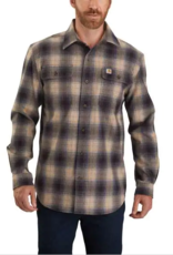 Carhartt 104451, Men's Original Fit Flannel Long Sleeve Plaid Shirt, Black