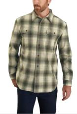 Carhartt 104451, Men's Original Fit Flannel Long Sleeve Plaid Shirt, Olive