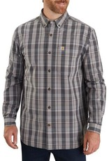 Carhartt 104444, M Rlx Fit Cotton LS Plaid Shirt, Shadow