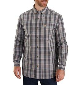 Carhartt 104444, M Rlx Fit Cotton LS Plaid Shirt, Shadow
