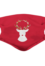 Reindeer with Maryland Flag Antlers (Red) / Face Mask