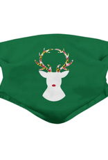 Reindeer with Maryland Flag Antlers (Green) / Face Mask