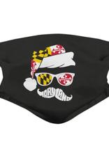 Holiday Maryland Mustache (Black) / Face Mask