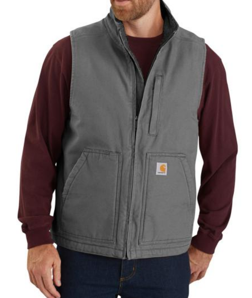 Carhartt 104277 - Loose Fit Washed Duck Lined Mock Neck Vest